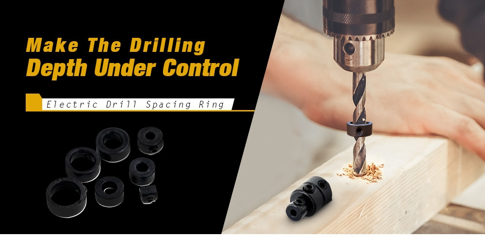 Professional Electric Drill Spacing Ring for Wooden Woodworking 9pcs