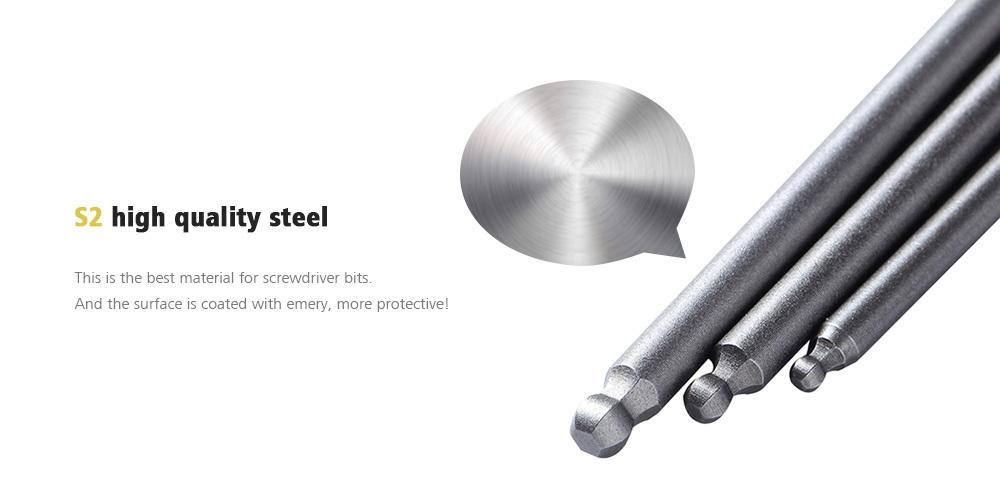 Screwdriver Bit Drill Set Steel Ball End Hexagon Magnetic Head Hex