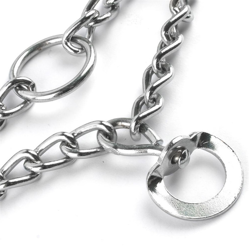 45/50/55/60cm Adjustable Dog Training Collar Chain Pet Supply Metal Steel Prong