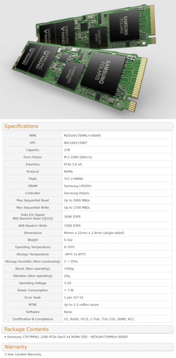 Samsung PM961 1TB M.2 NVMe PCIe SSD Review 02 - TweakTown.com
