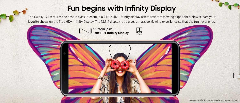 Galaxy J4 Plus True HD+ Display
