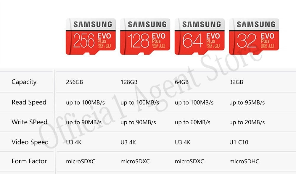 MC-Samsung-micro sd card memory card microsd tf cards usb flash pendrive pen drive usb 3.0 memory stick flash disk U3 U1 C10  4K A1 A2 V30 cf card 4GB 8GB 16GB 32GB 64GB 128GB 200GB 256GB 400GB
