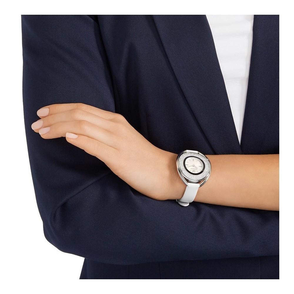 Image result for swarovski crystalline oval white watch