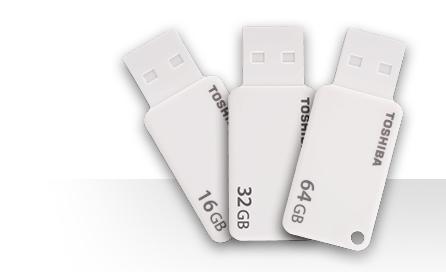 Toshiba Clé Usb TransMemory U303 16 Go - Blanc - Usb 3.0 - Label prix maroc