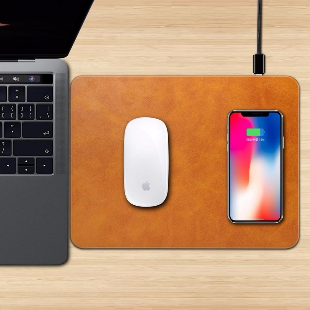 Mobile Phone Qi Wireless Charger Charging Mouse Pad Mat for iPhone X (2)