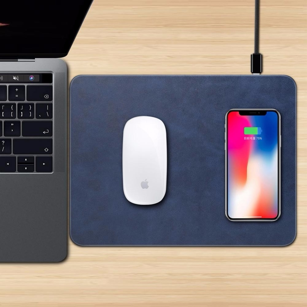 Mobile Phone Qi Wireless Charger Charging Mouse Pad Mat for iPhone X (3)