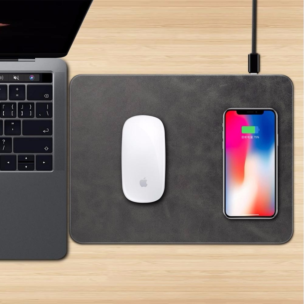 Mobile Phone Qi Wireless Charger Charging Mouse Pad Mat for iPhone X (5)
