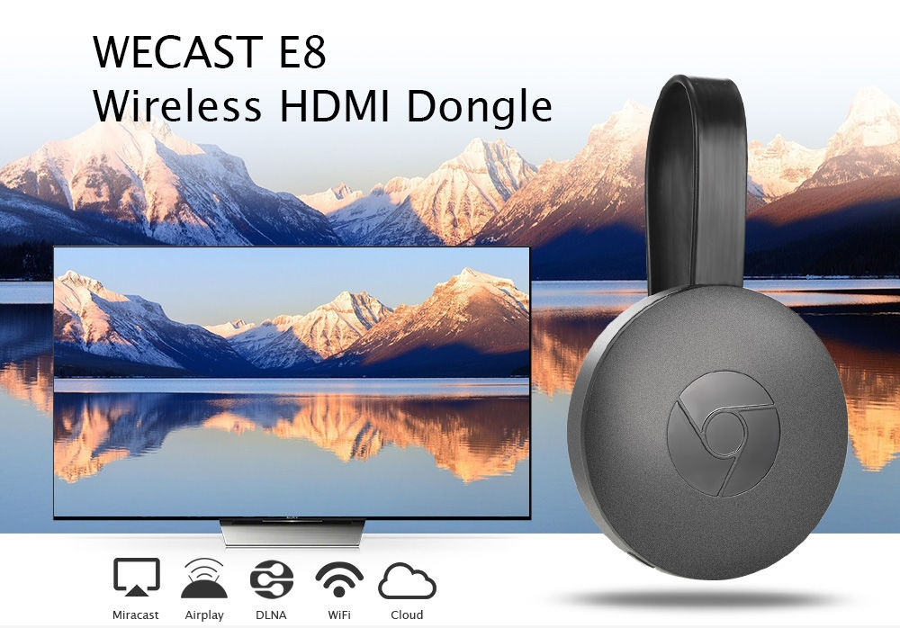 WECAST E8 Wireless HDMI Dongle Media TV Stick Display Receiver Support Miracast Airplay DLNA