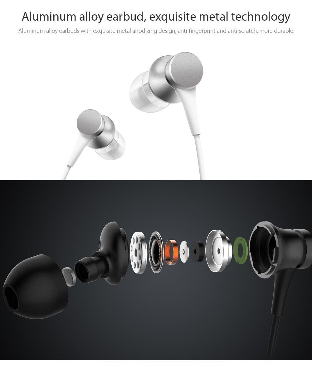Xiaomi d'origine piston écouteurs intra-auriculaires avec micro nouvelle version