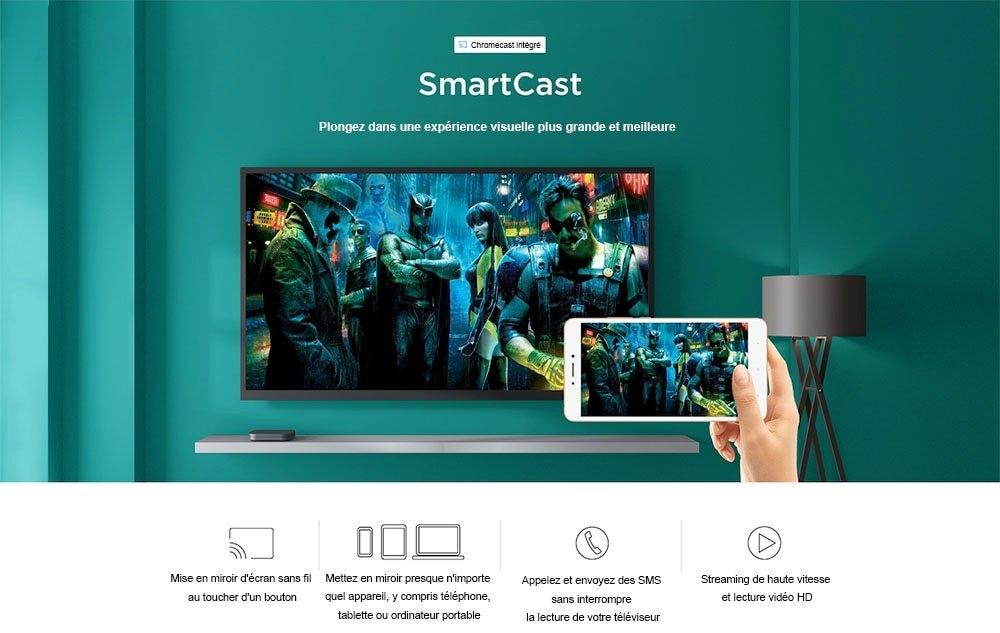 Xiaomi Mi Box S avec Assistant Google à Distance de Version Internationale Officielle- Noir Prise UK