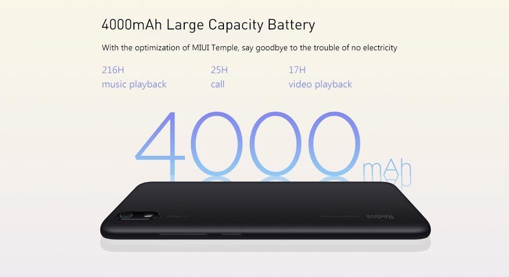Xiaomi Redmi 7A 4G Smartphone 5.45 inch Android 9.0 Snapdragon SDM439 Octa Core 2GB RAM 16GB ROM 13MP Rear Camera 4000mAh Battery- Black