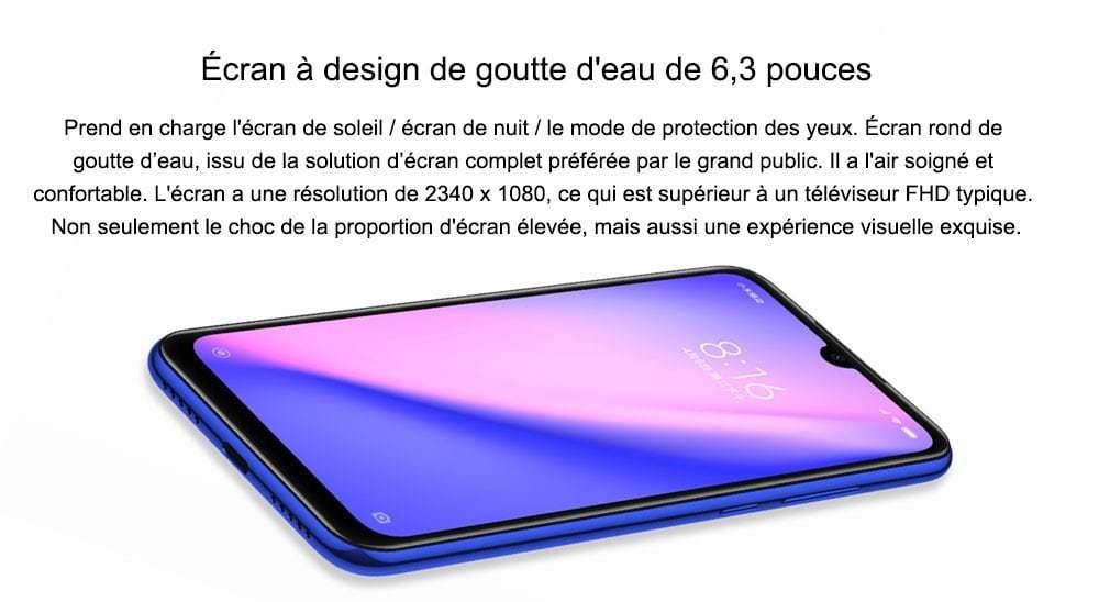 Smartphone 4G Xiaomi Redmi Note 7 Version Globale- Noir