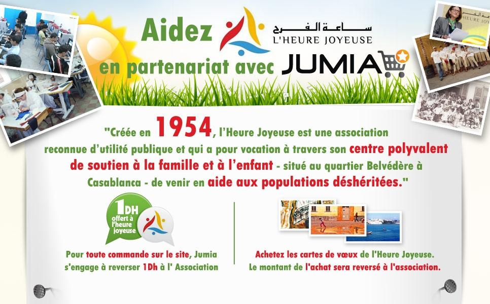 Partenariat de l'heure joyeuse avec Jumia Maroc
