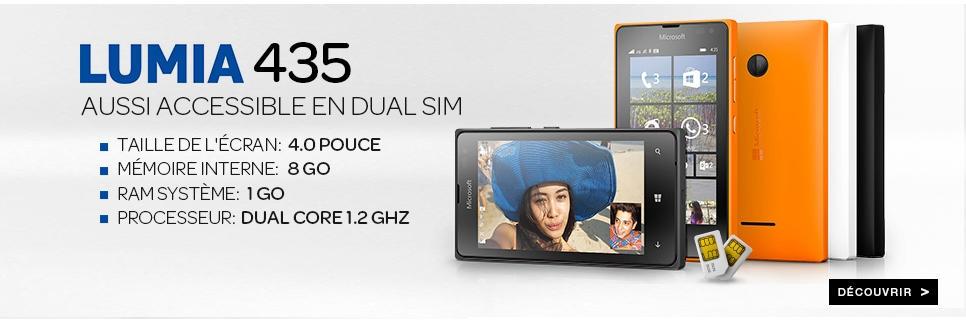 Acheter le Lumia 435 dans la boutique Microsoft de Jumia Maroc