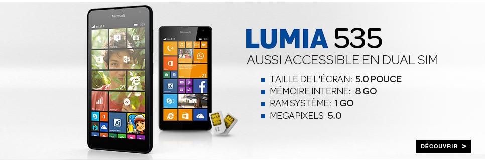 Acheter le Lumia 535 dans la boutique Microsoft de Jumia Maroc