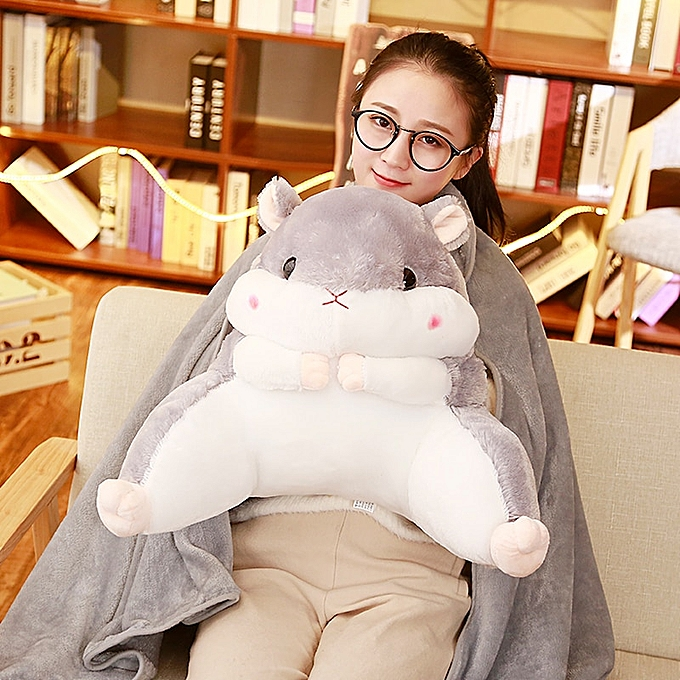 Autre plush toy stuffed doll voituretoon animal Amuse fat hamster chair waist pilFaible cushion hand warm blanket office rest 1pc(jaune just cushion) à prix pas cher