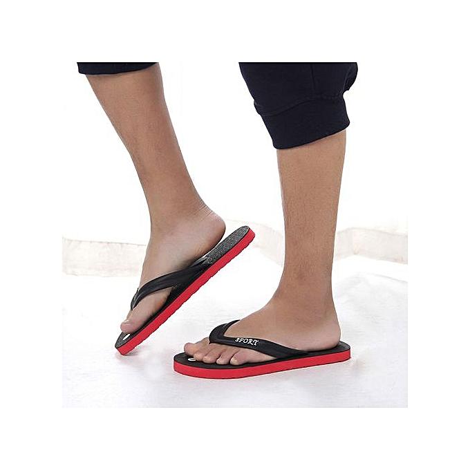 Fashion Jiahsyc Store Men's Summer Flip-flops Slippers Beach Sandals Indoor&Outdoor Leisure chaussures-noir à prix pas cher    Jumia Maroc