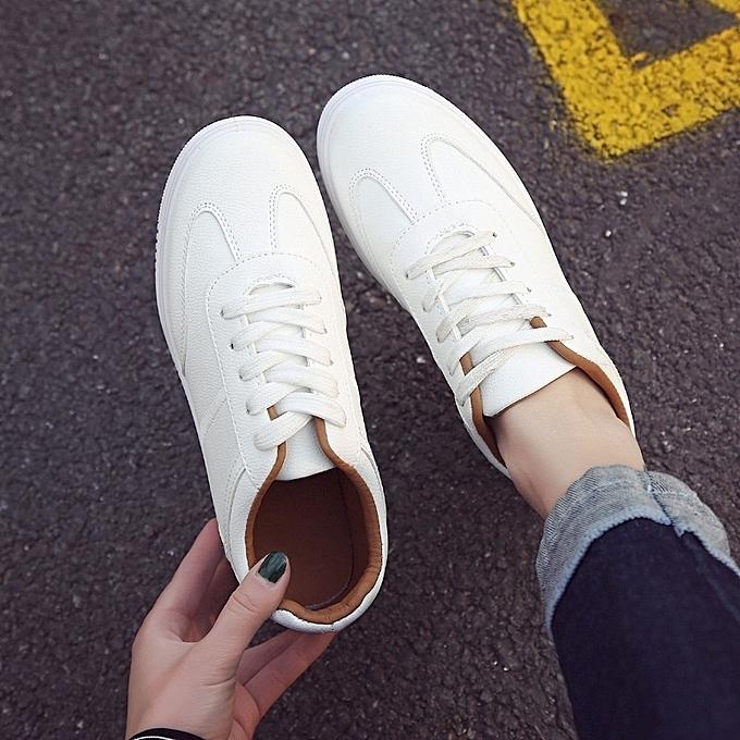 Autre Stylish Korean Leisure Solid Color Thick Thick Thick Sole White Shoes à prix pas cher  | Jumia Maroc 082f97