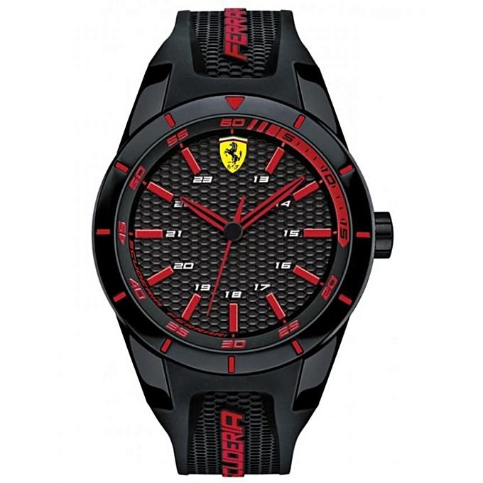 9fd0da109114 Scuderia Ferrari Montre Scuderia Ferrari 0830245 - Noir à prix pas ...