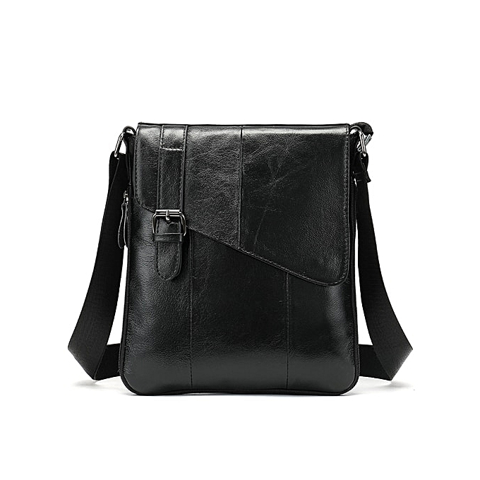 Other WESTAL  leather hommes shoulder bags zipper flap crossbody bags for men messenger handbag male leather cover designer bag(8240CE4shinynoir) à prix pas cher