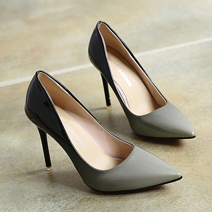 270ca159ab38 Générique Chaussures à Talons pour Femmes - Gris à prix pas cher ...