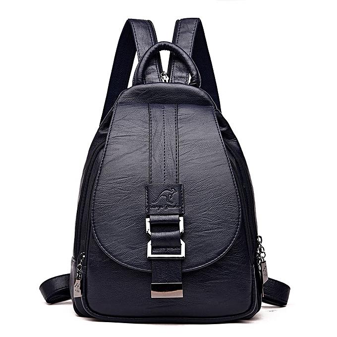 Other Designer sac à doss femmes cuir sac à doss Female School sac  for Teenager Girls voyage Back sac Retro sacpack Sac a Dos(bleu) à prix pas cher