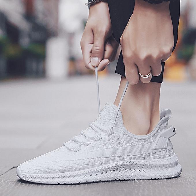 Fashion Breathable sports chaussures hommes chaussures breathable running chaussures blanc à prix pas cher    Jumia Maroc