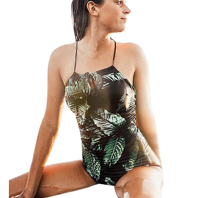 mode quanxinhshang femmes One-Piece maillot de bain plagewear maillot de bain Push Up Bikini Bathing Suit à prix pas cher
