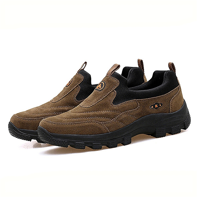 Fashion Men Outdoor Hiking Fitness Trekking chaussures Sport Walking Antiskid Thicken baskets à prix pas cher