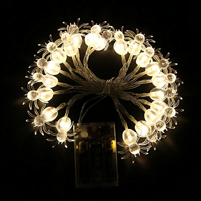 UNIVERSAL KCASA 2M 20 LED Halloween Spider String Lights LED Fairy Lights for Festival Christmas Halloween à prix pas cher