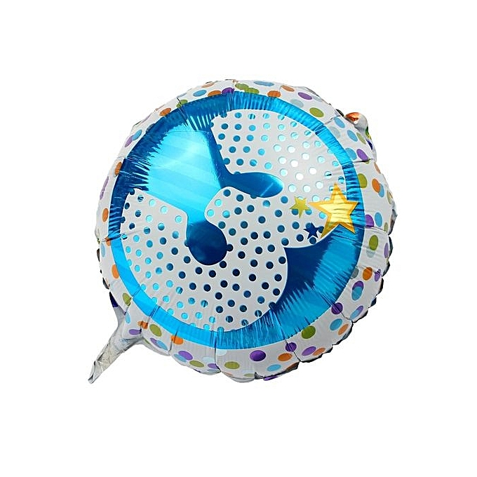 UNIVERSAL Number 3 Aluminum Foil Balloon Helium Balloons For Birthday Party Decor bleu à prix pas cher