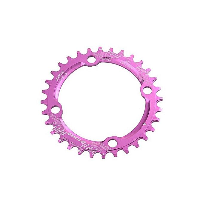 Generic Haojks 104BCD 34T Ultralight Alloy Bike Bicycle Chainring Circular Round Chainwheel PP à prix pas cher