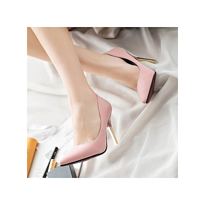 Fashion Featurouge Wohommes Thin Heels chaussures Shallow Pointed Toe talons hauts chaussures à prix pas cher    Jumia Maroc