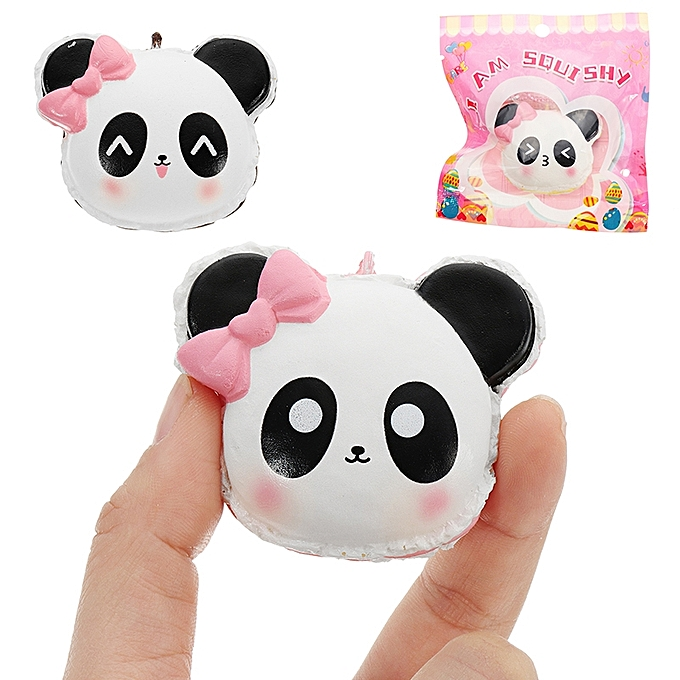 UNIVERSAL I Am Squishy Panda Face Head Squishy 14.5cm Slow Rising With Packaging Collection Gift Soft Toy-pout à prix pas cher