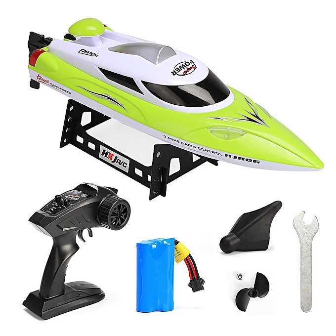 Generic HJ806 RC Boat High Speed 35km h 200m Control Distance Fast Ship RC Boat Racing à prix pas cher