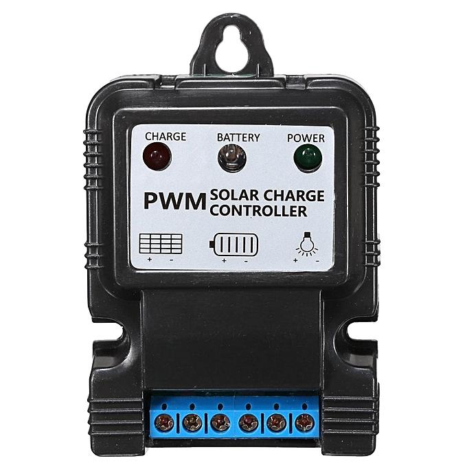 UNIVERSAL 3PCS 6V 12V 5A Auto Solar Panel Charge Controller Battery Charger Regulator PWM LED noir à prix pas cher