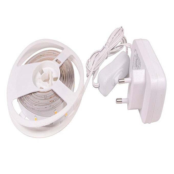 Kit Ruban Led 5m Lumière Blanc Chaud 3000k 120 Lumens Avec Transformateur Garantie 2 Ans Led économie Dénergie