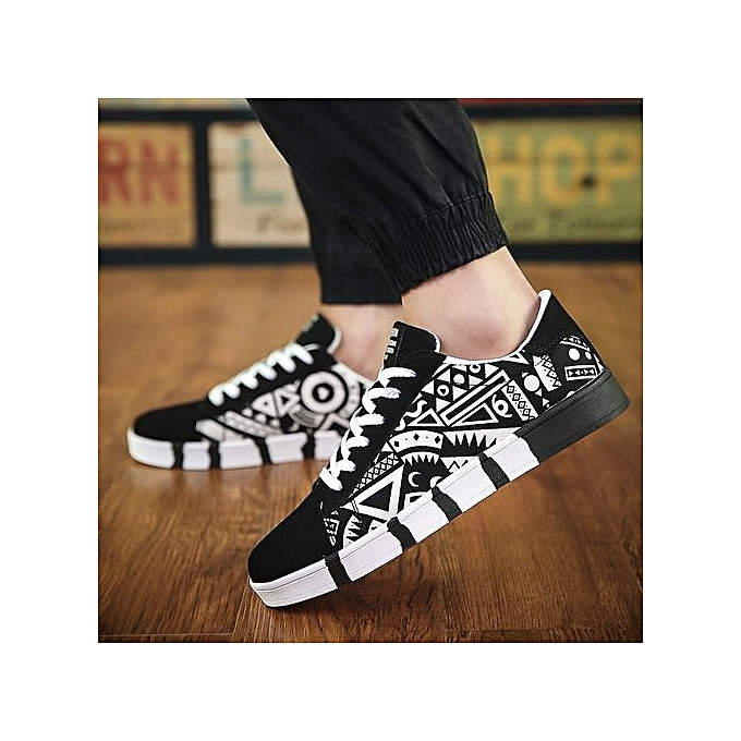 Fashion Fashion  's Low Top  's Sneaker Leather High Quality Leather Sneaker Casual Black Shoes01-Blanc  à prix pas cher  | Jumia Maroc 3e8595