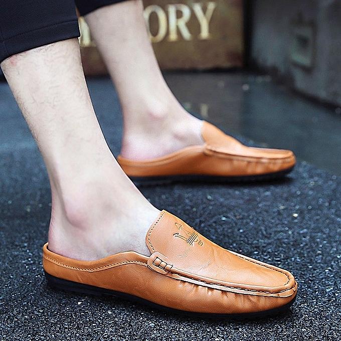 Autre Stylish Summer Trendy  's Sandals Leather Shoes Half Slipper Slipper Half à prix pas cher  | Jumia Maroc 5e682d