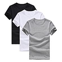 Pack de 3 promotion à manches courtes t-shirt hommes marque vêtements d  039 a319281d487