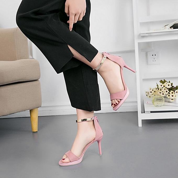 Fashion Fashion WoHommes  Round Toe Buckle Strap Comfortable Comfortable Strap Work High Heel Party Shoes - à prix pas cher  | Jumia Maroc bc0db0