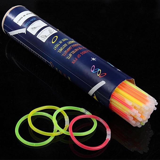 Autre 100pcs multi Couleur lueur bâton lumière bracelets fête lueur bracelet lueur à prix pas cher