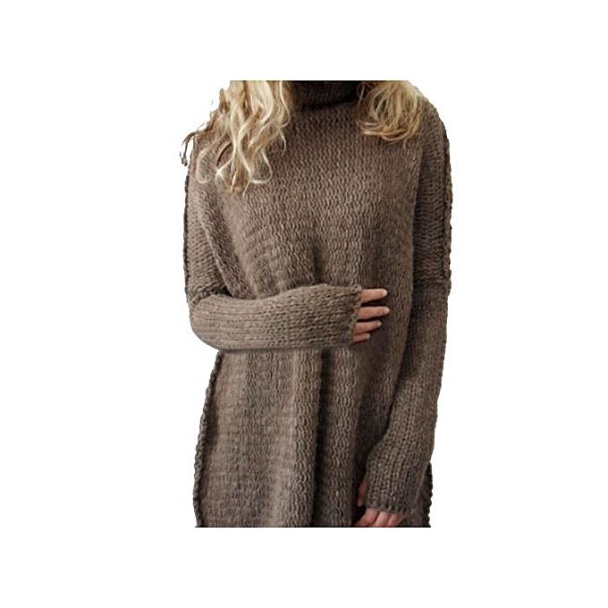 Fashion Xiuxingzi_femmes Loose Long Sleeve Fall Winter OverTaille Sweater Jumper Shirt Tops CO XL à prix pas cher