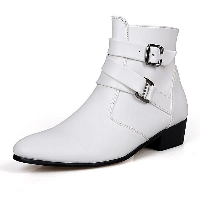 Fashion Men's High Fashion Casual bottes - blanc à prix pas cher