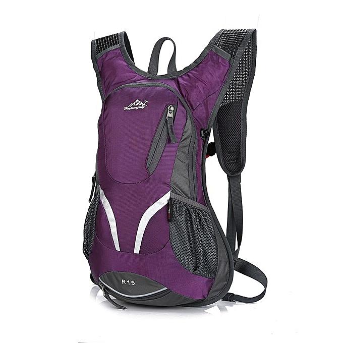 Other 15L Cycling sac à dos with Helmet Holder lumièreweight Sports sac MTB Mountain Bicycle sac à dos(Plum) à prix pas cher