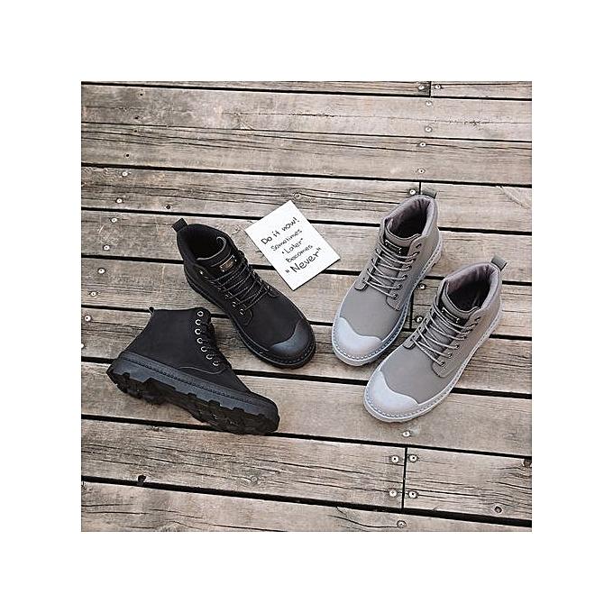 Glorystar New  's Vintage Vintage 's Martin Boots Korean Hipster Shoes For  's Casual Shoes-Gris  à prix pas cher  | Jumia Maroc 46b90d