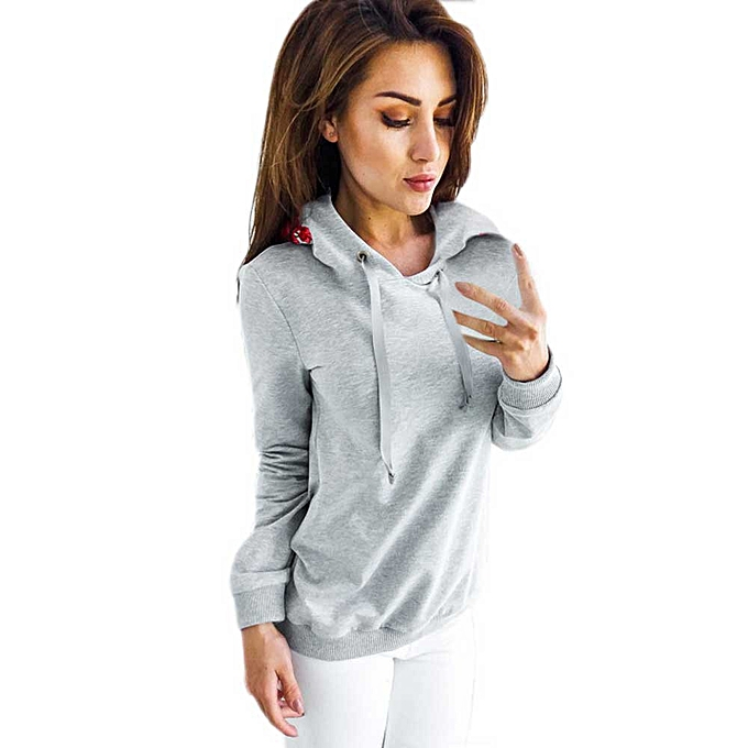 Fashion Hiamok femmes Clubwear Casual Outfit Autumn And Winter  Long Sleeves Top GY L à prix pas cher