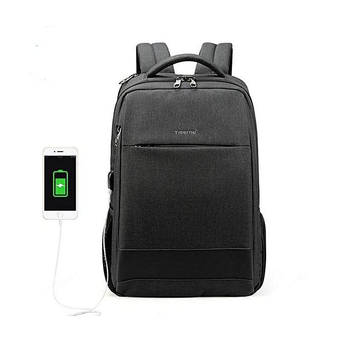 OEM Refined Men's Fashion Travel Backpacks Anti theft USB Charging 15.6 Laptop Bag Waterproof  gris à prix pas cher