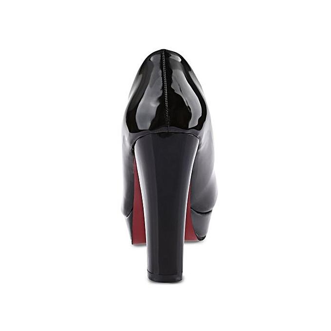 Fashion Stylish   Thick Thick Thick High Heel Sandals Pure Color Platform Shoes-BLACK à prix pas cher  | Jumia Maroc 10b56c