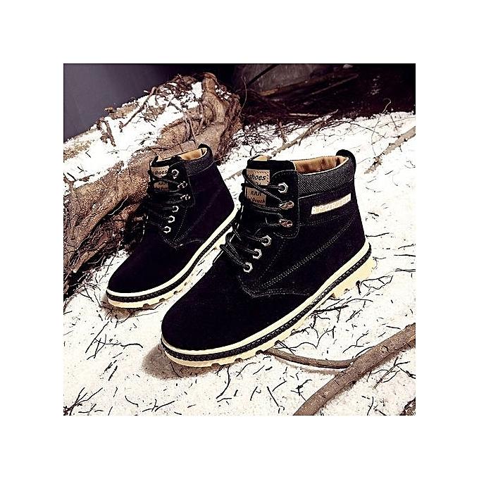 Fashion Cotton Boots Warm Martin Boots  's Vintage Boots-Noir   Boots-Noir à prix pas cher  | Jumia Maroc e58681